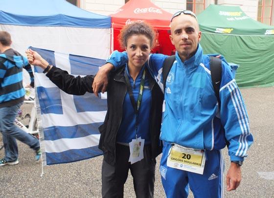 Grigoris Skoularikis and Chara Skoulariki Powerman Zofingen