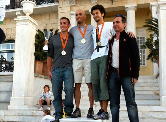 Spetsathlon endurance triathon podium Grigoris Skoularikis