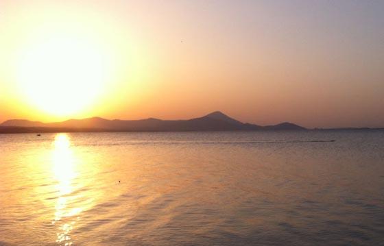 Grigoris Skoularikis sunset open water swim