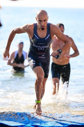 Grigoris Skoularikis triathlon swim exit