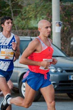 Grigoris Skoularikis runs Half Marathon
